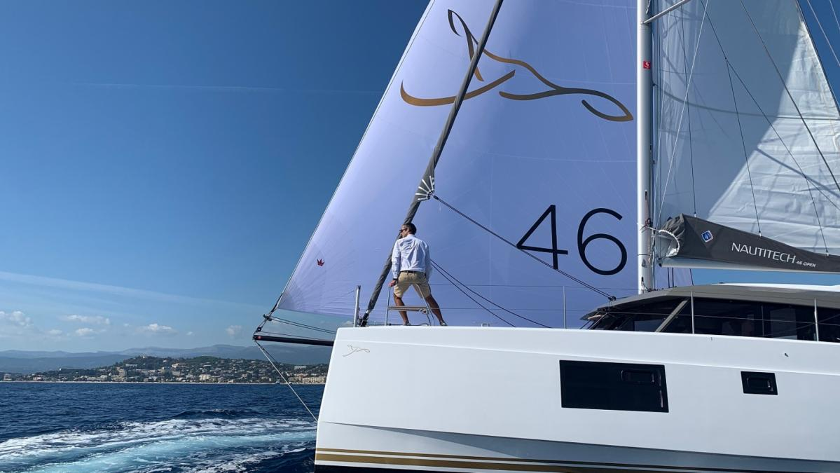 New sea trial on Nautitech 46 Open by Armel Le Cléac'h